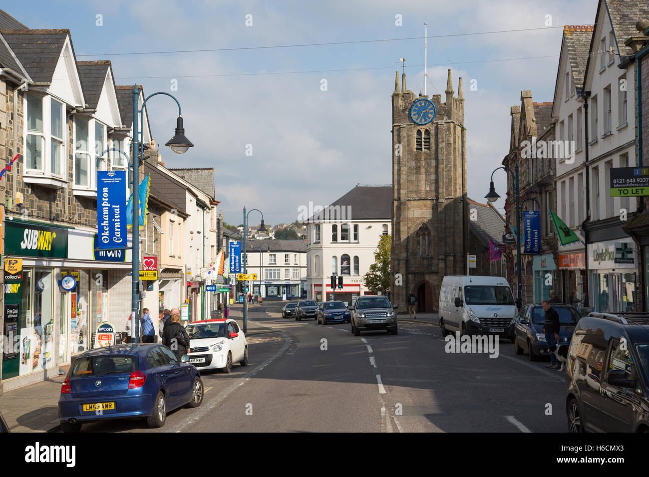 Fore Street, Okehampton - Stock Image
