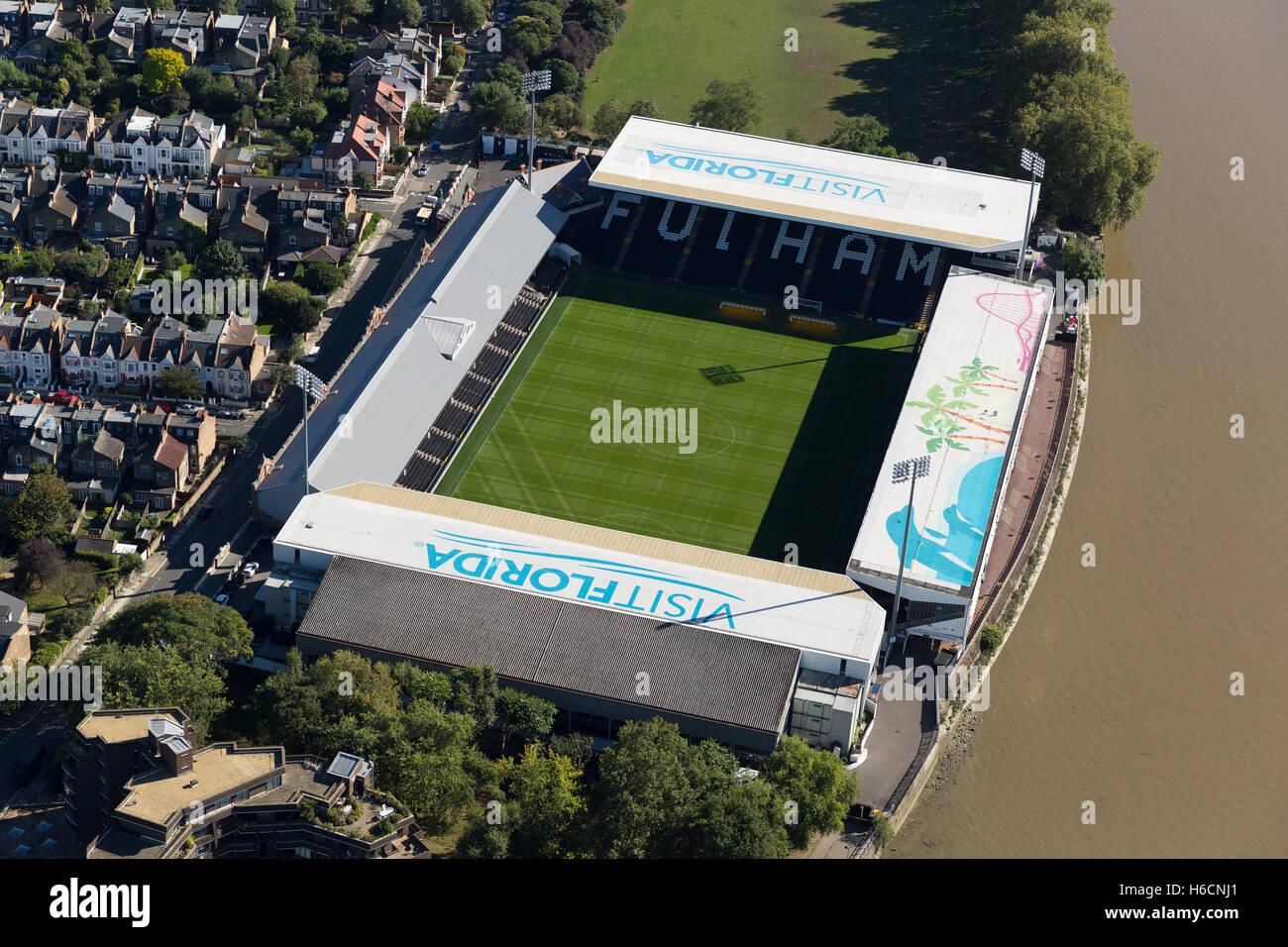 Craven Cottage, Fulham Football Club, Stevenage Rd, London SW6 6HH. - Stock Image
