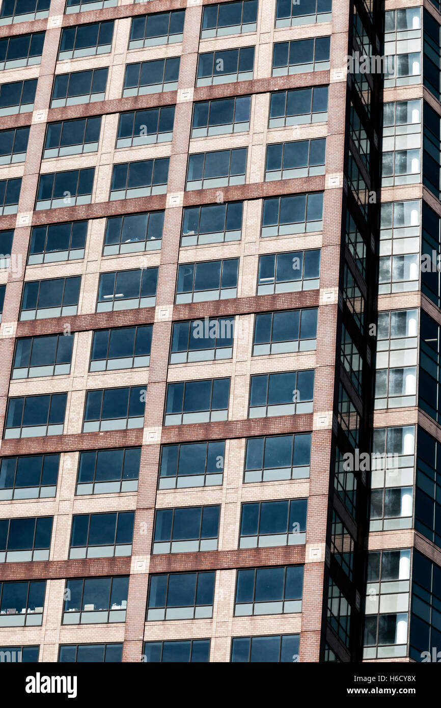 Detail of an office building, rather abstracted. - Stock Image