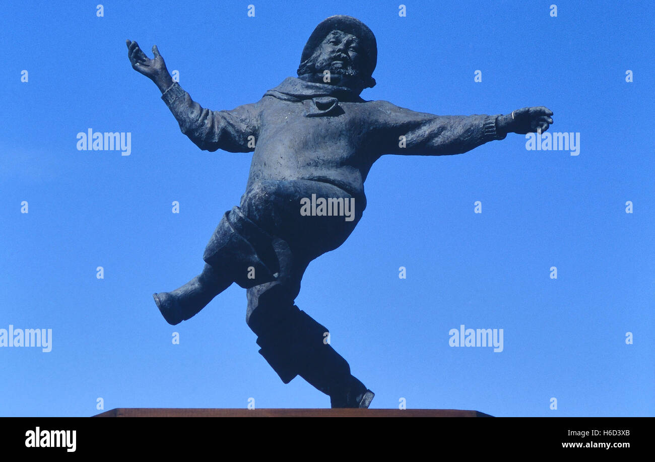 Jolly fisherman statue. Skegness. Lincolnshire. England. UK Stock Photo