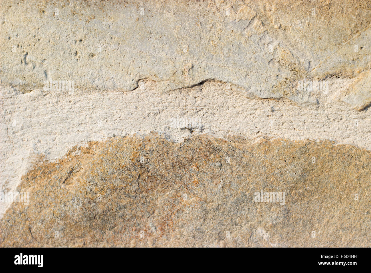 Close up of a sand color stone tiles on the wall Stock Photo ...