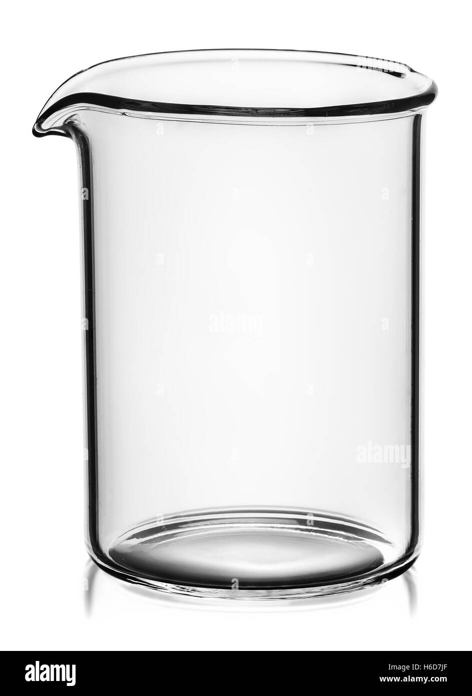 Beaker without divisions isolated on white background - Stock Image