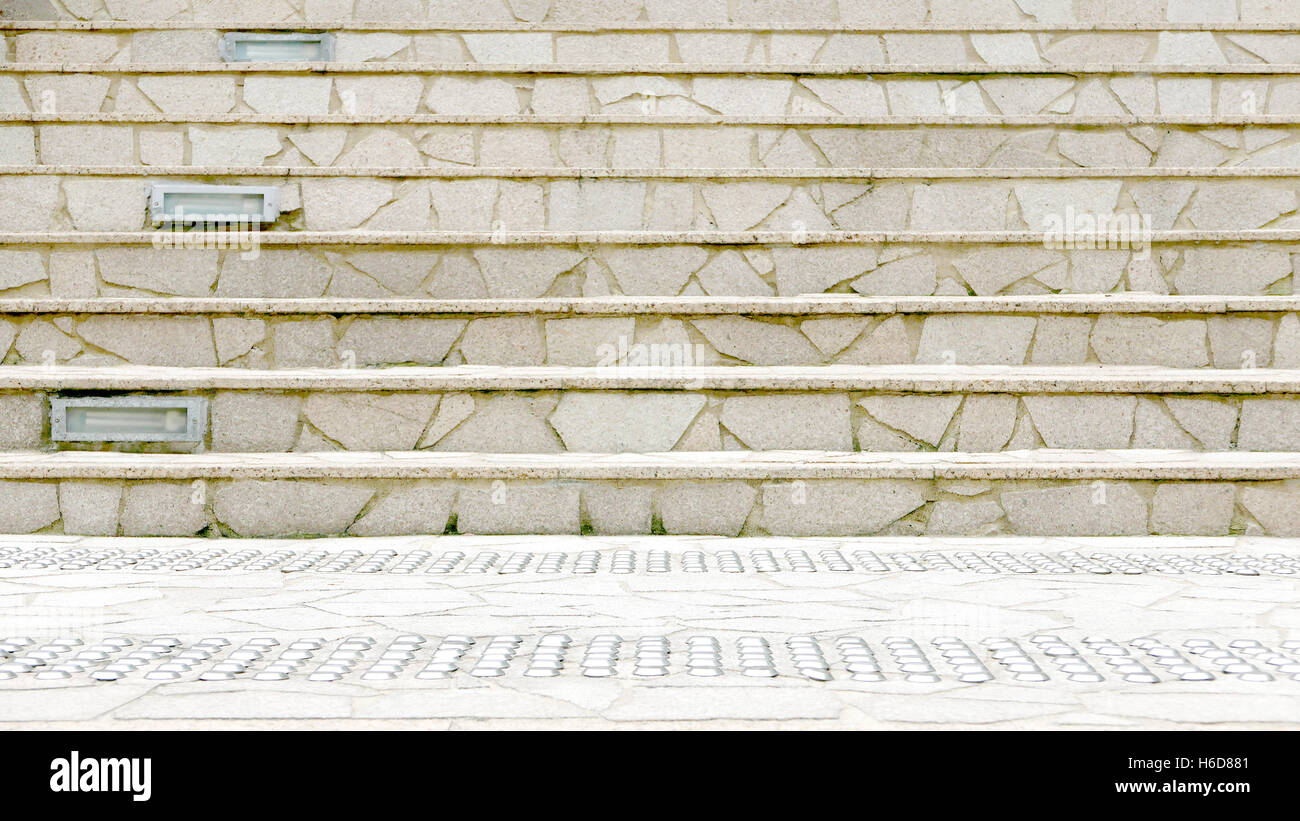 The outdoor building staircases - Stock Image