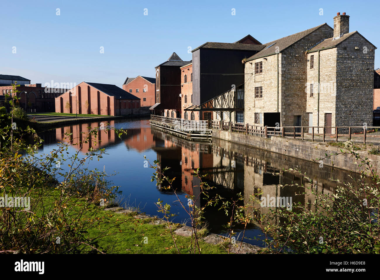 Wigan Pier on the Liverpool Leeds Canal England United Kingdom - Stock Image
