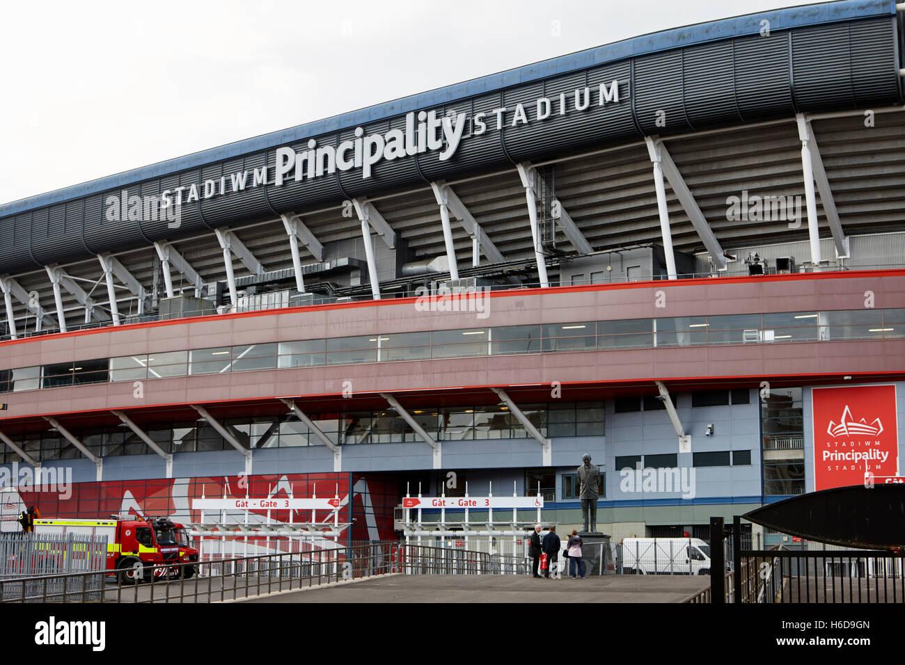 Principality former millennium stadium Cardiff Wales United Kingdom - Stock Image