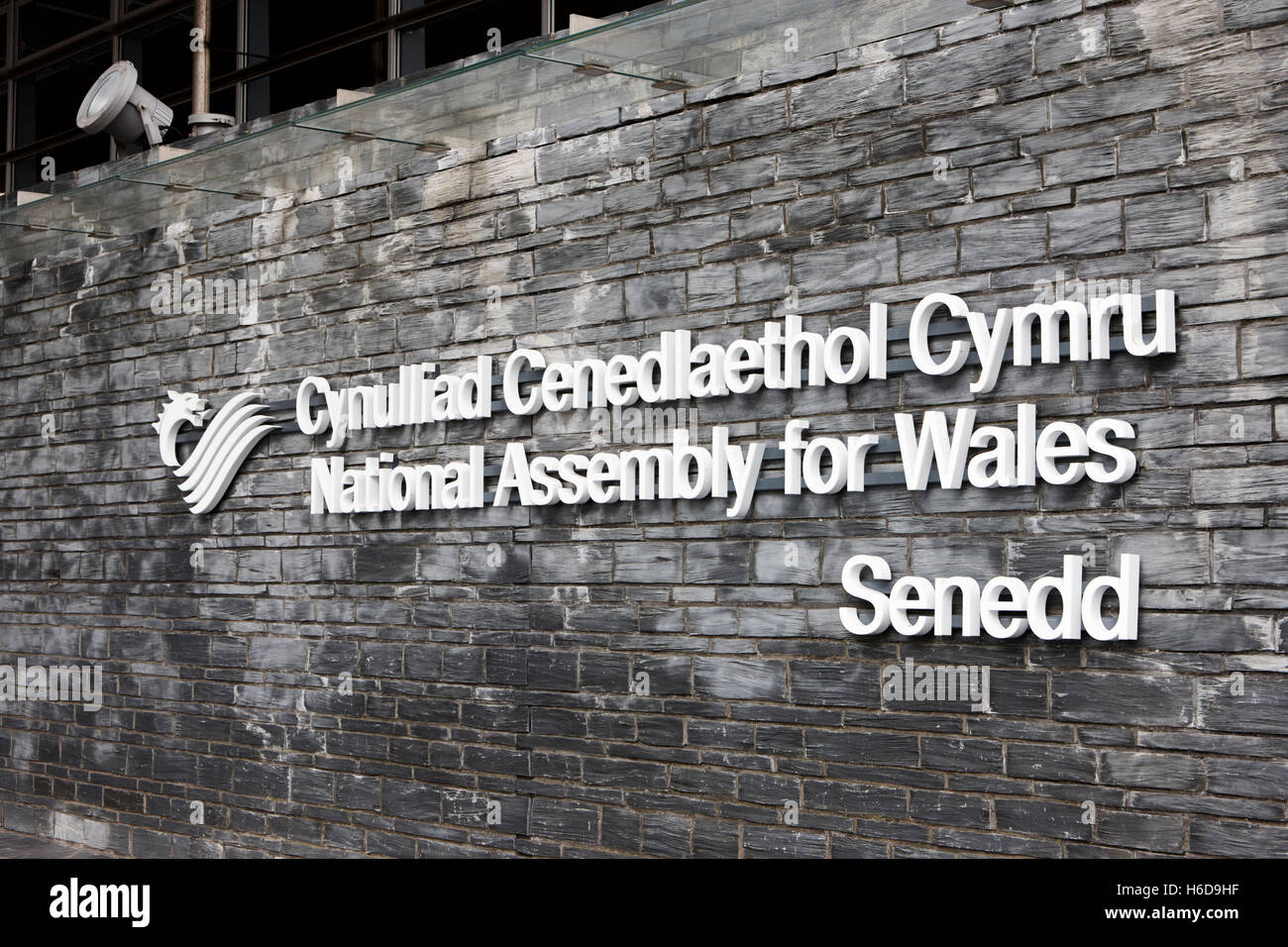 senedd national assembly for wales building Cardiff Wales United Kingdom - Stock Image