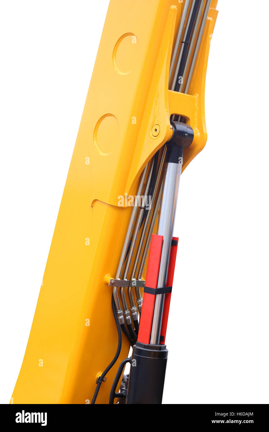 Hydraulic mechanisms of the modern elevating crane - Stock Image