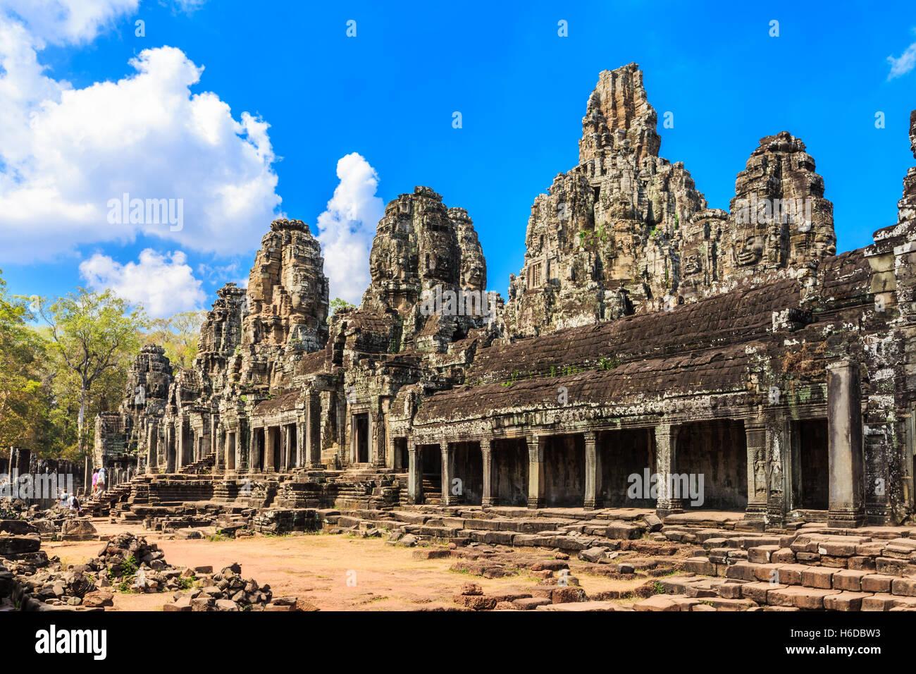 Angkor, Cambodia. Bayon Temple. - Stock Image