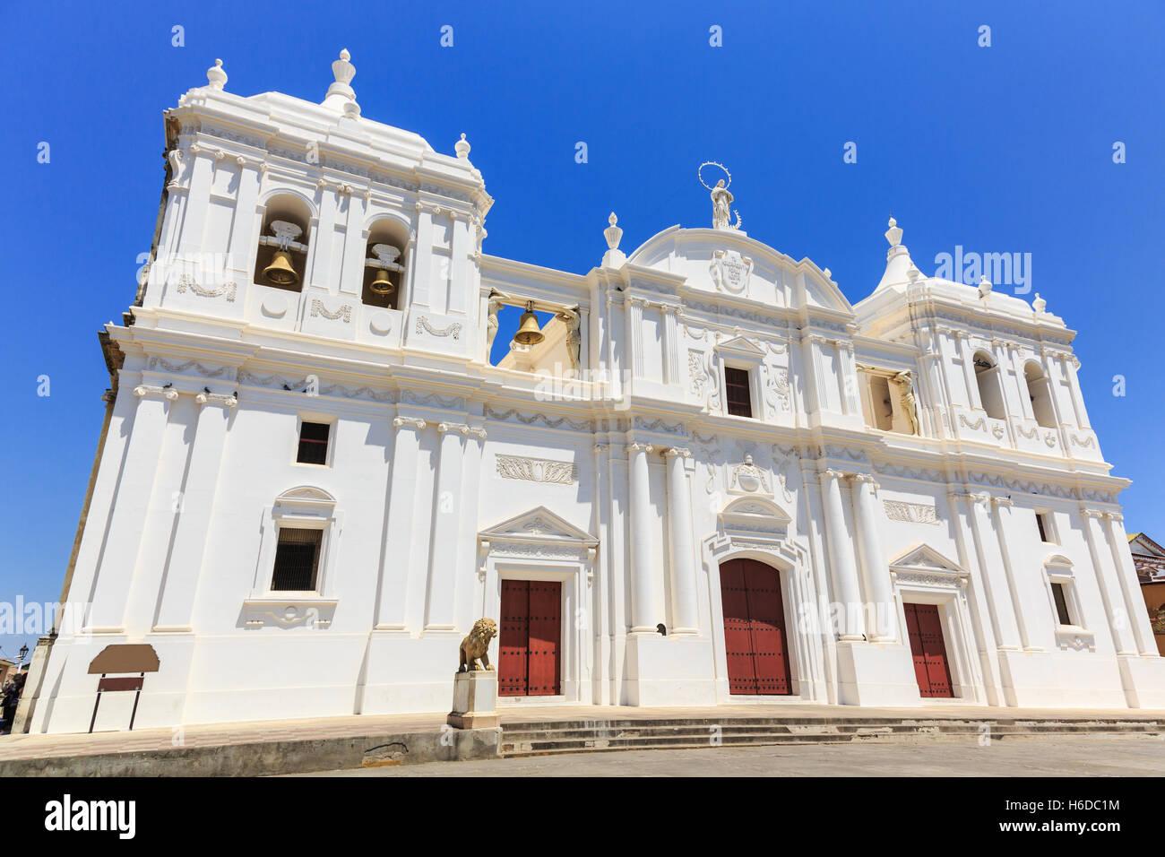 Leon, Nicaragua. Catedral de la Ascunción de María (Mary's Assumption Cathedral) Stock Photo