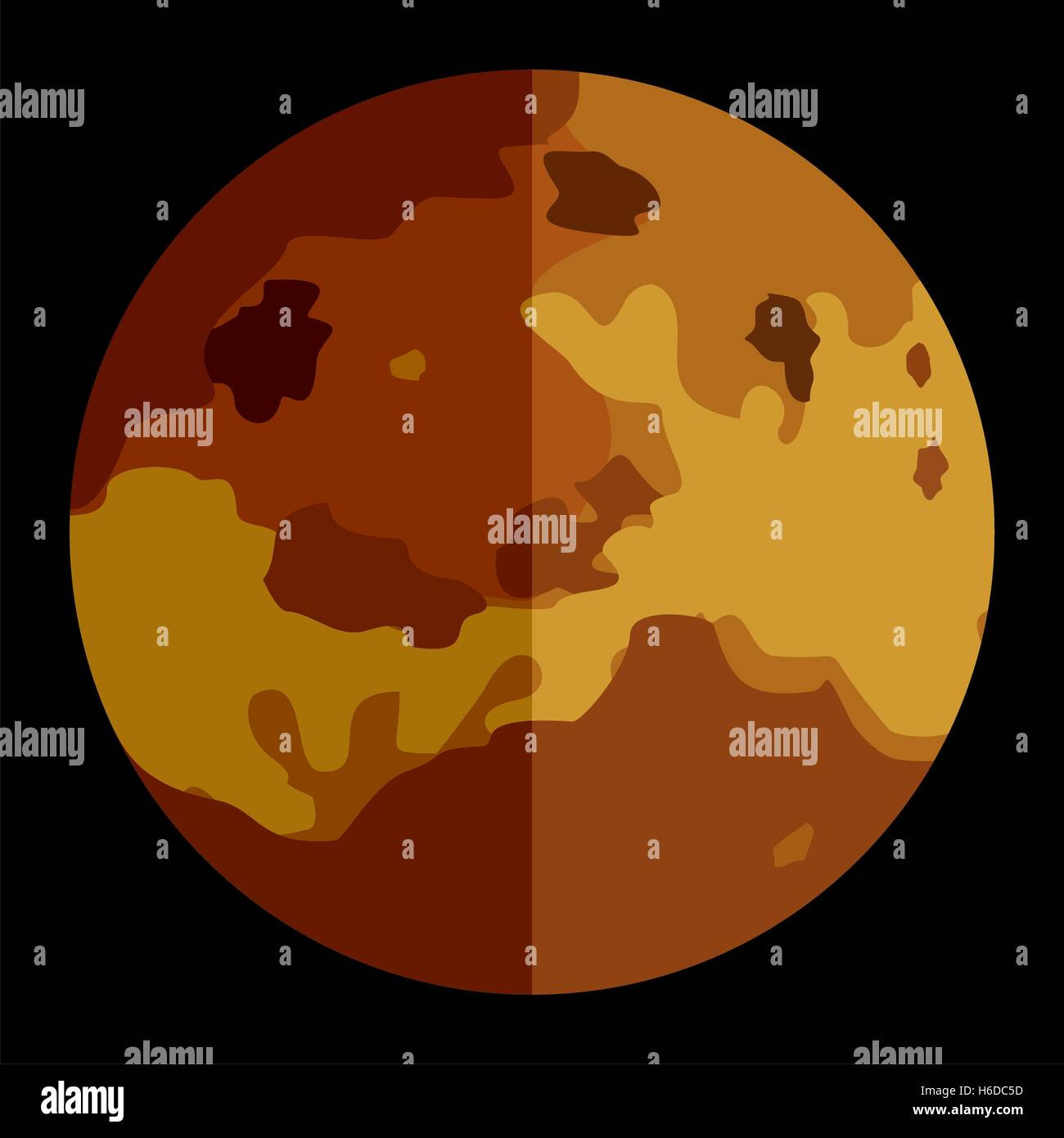 Vector solar system planet Venus - Stock Image