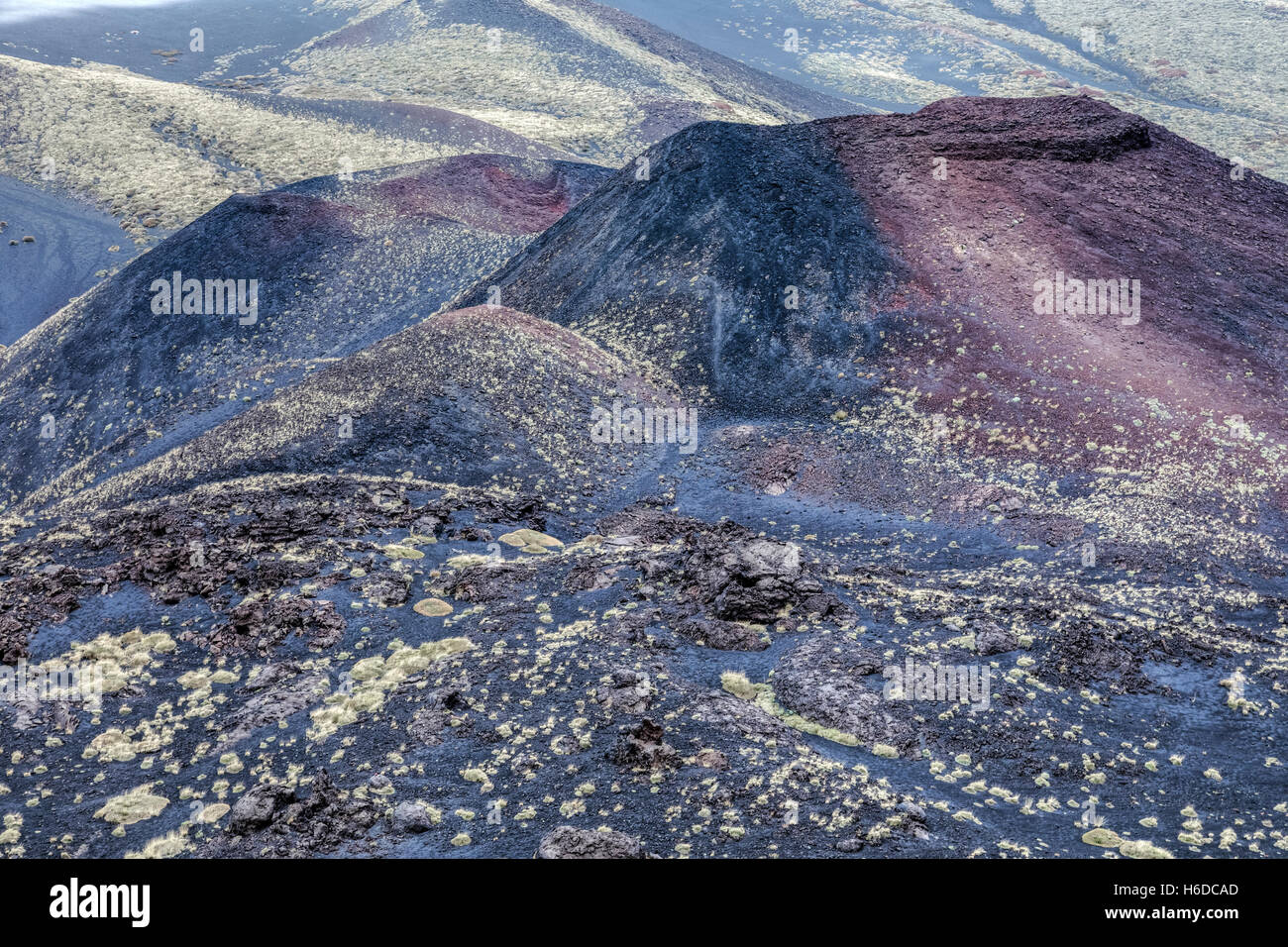 Mount Etna; Catania; Sicily; Italy - Stock Image
