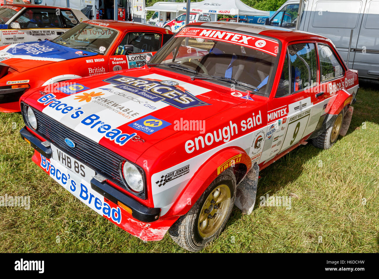 1979 Ford Escort MkII of Jonathan Brace at the 2016 Goodwood Festival of Speed, Sussex, UK - Stock Image