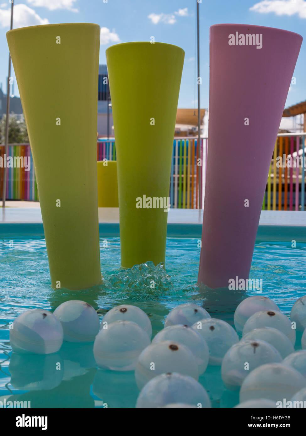Colorful Plastic Furniture in Kids Playground: Design