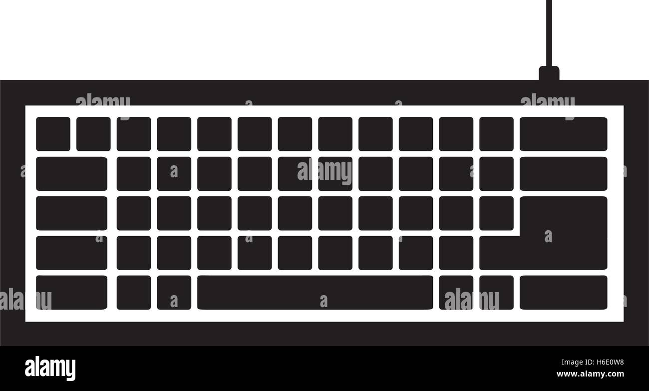 computer keyboard icon image vector illustration design - Stock Image