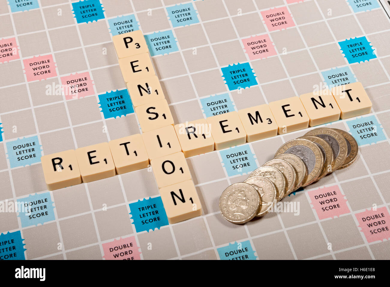 Pension concept England UK United Kingdom GB Great Britain - Stock Image