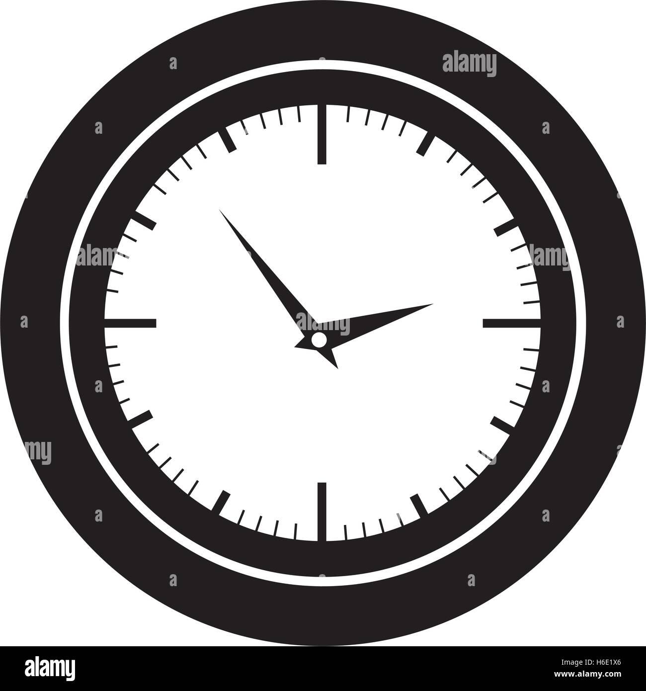 analog clock icon image vector illustration design Stock