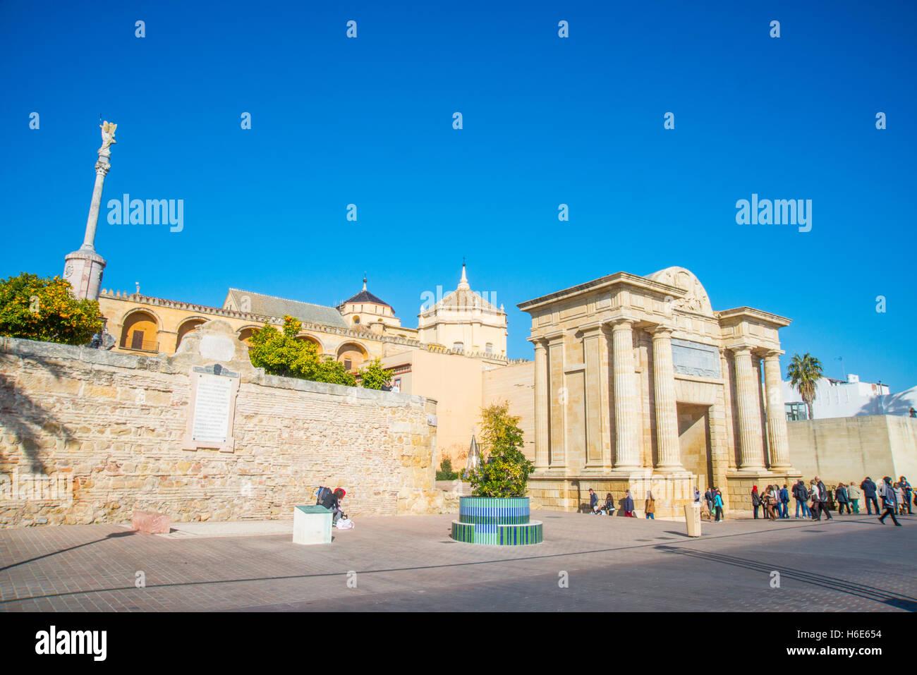Bridge Gate. Cordoba, Spain. - Stock Image