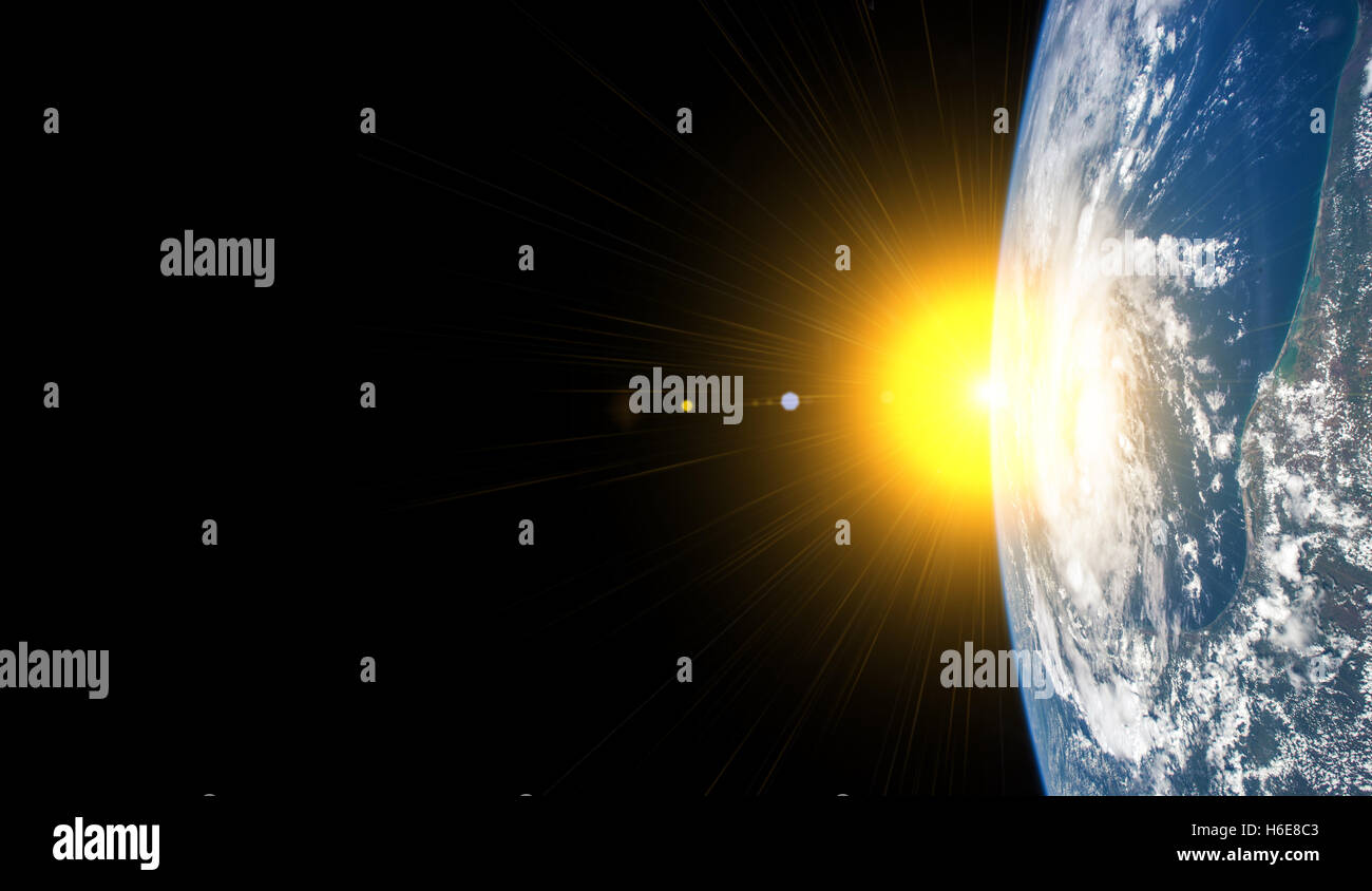 Our earth from outer space - Elements of this image furnished by NASA - Stock Image
