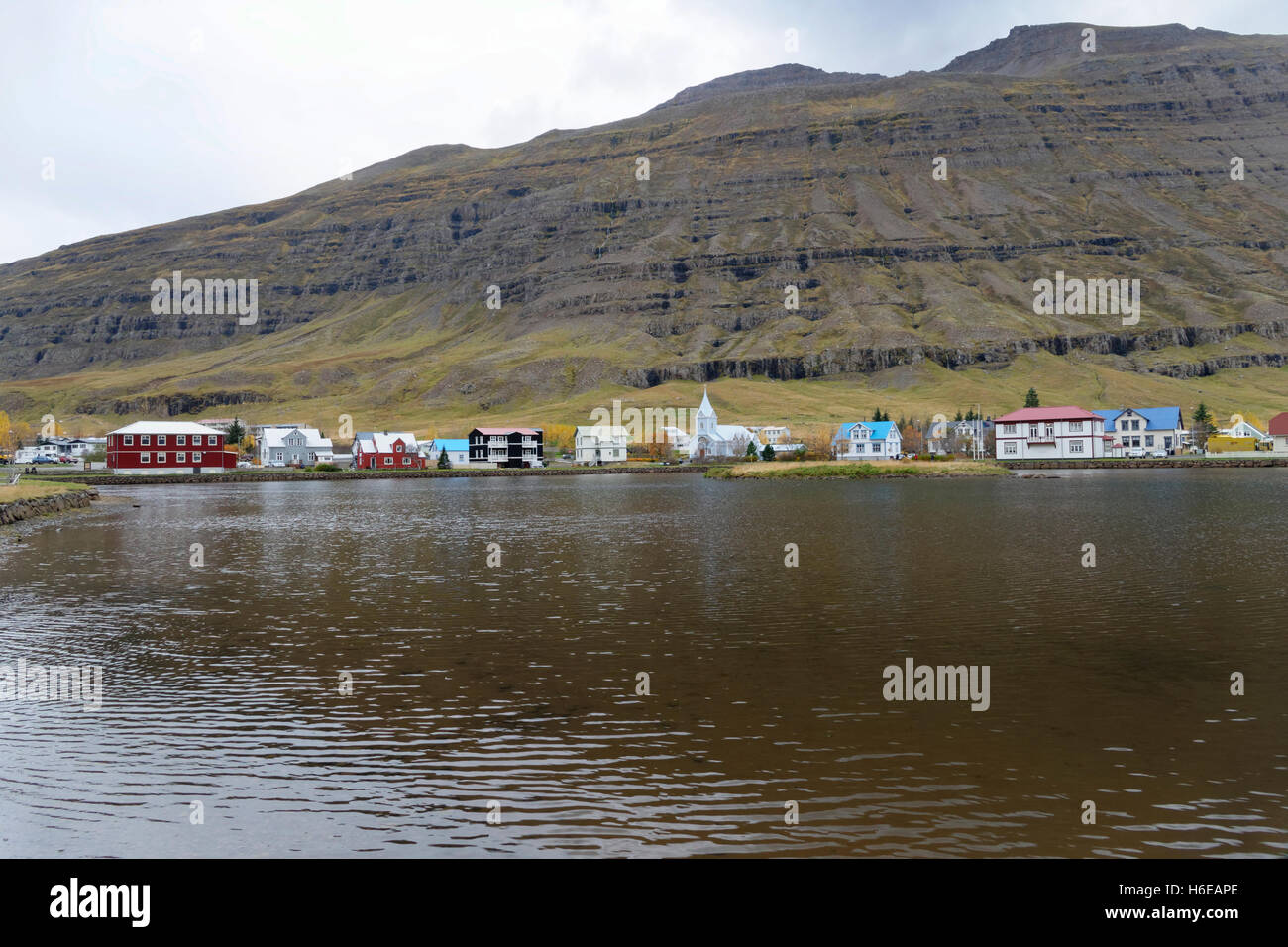 Seydisfjordur, East Iceland, North Atlantic, Europe - Stock Image