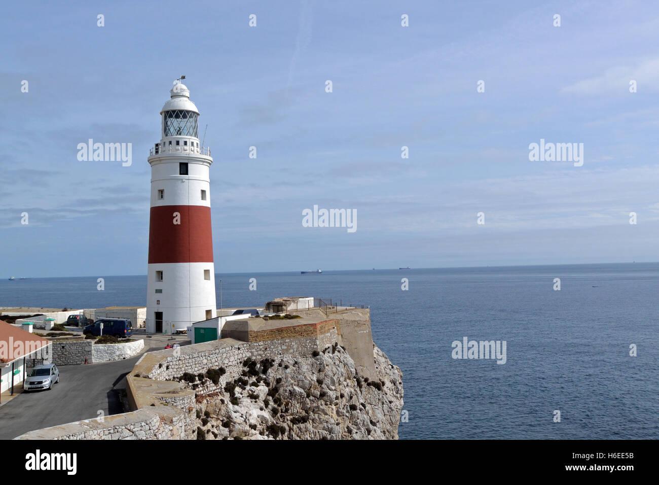 Europa Point Lighthouse, Gibraltar Stock Photo
