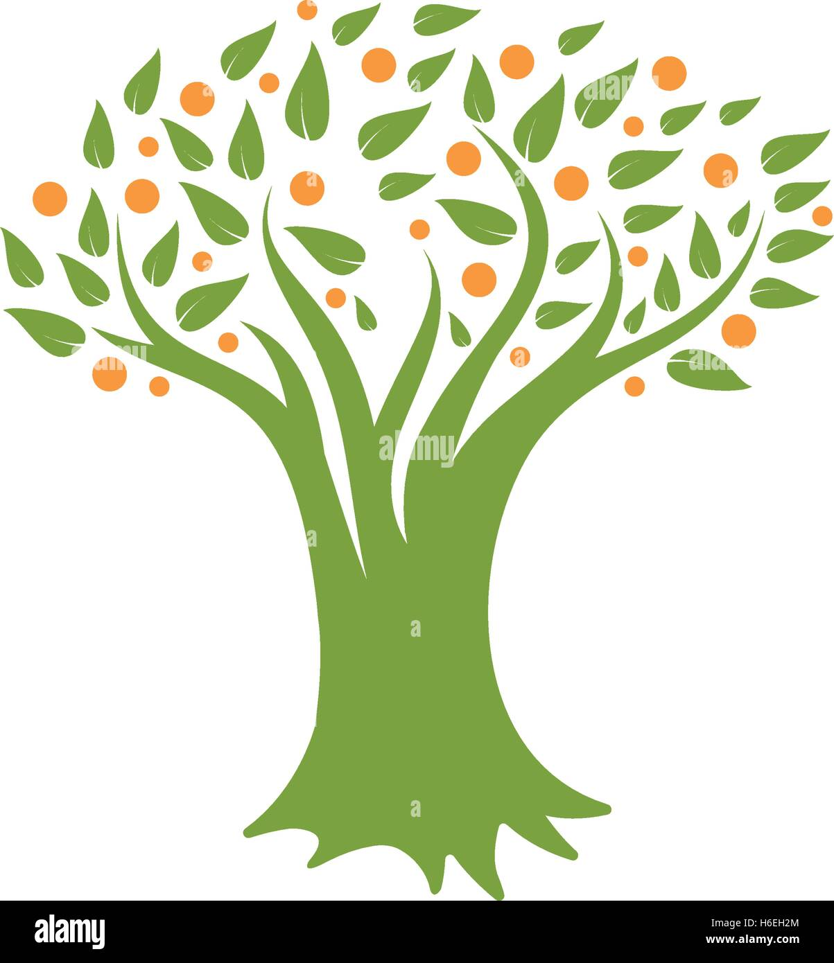 Branch Leaves Stylized Icon Vector Stock Photos & Branch Leaves ...