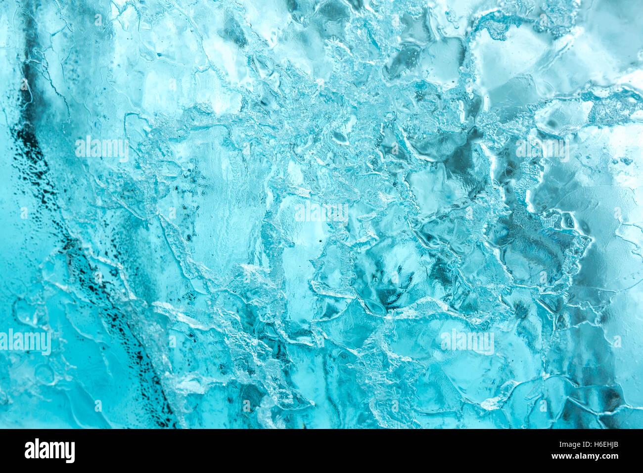 Ice wall background in Cave Iceland at Vatnajokull Glacier Jokulsarlon Nationa Park - Stock Image