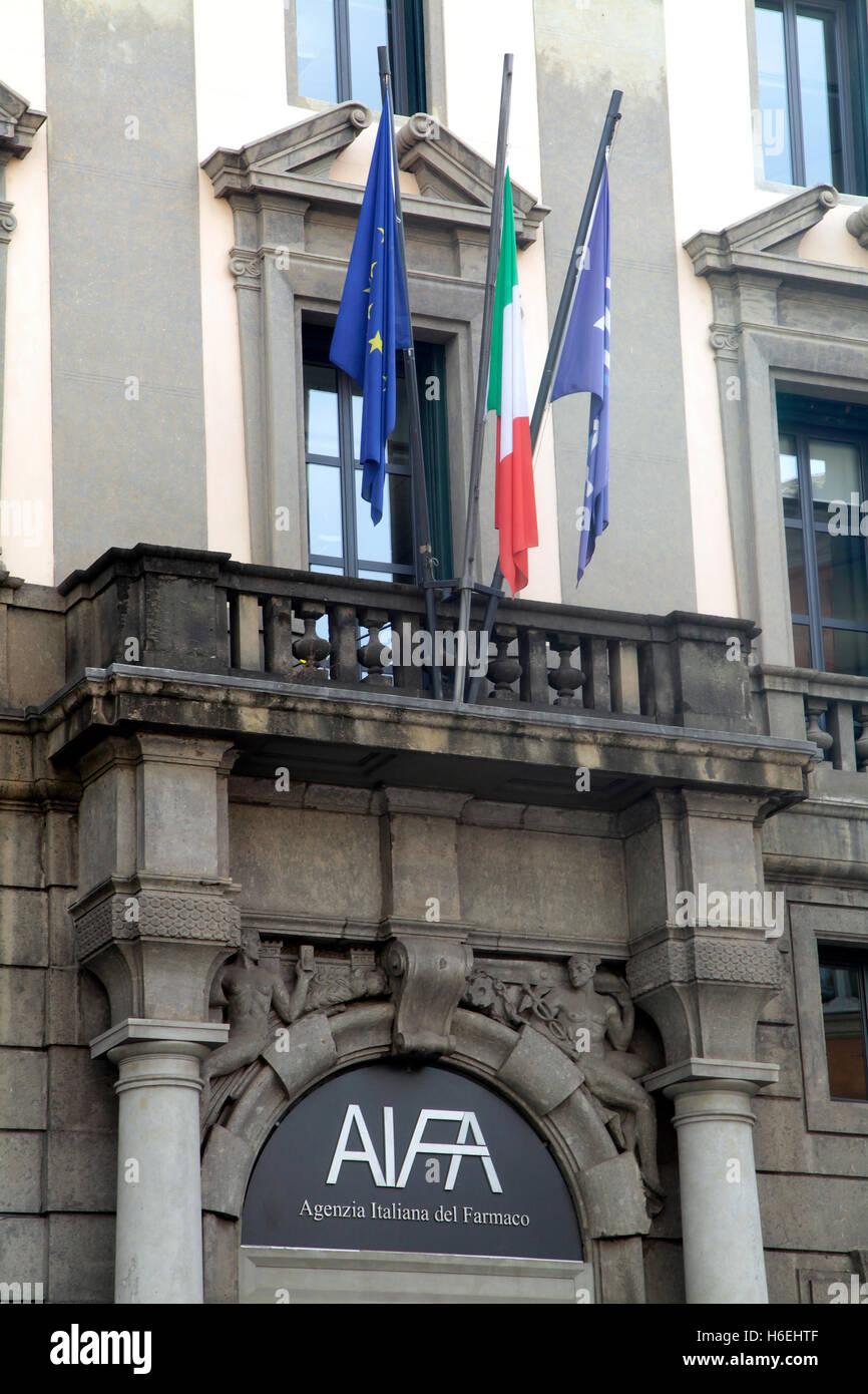 AIFA Italian Medicines Agency headquarters in Rome Italy - Stock Image