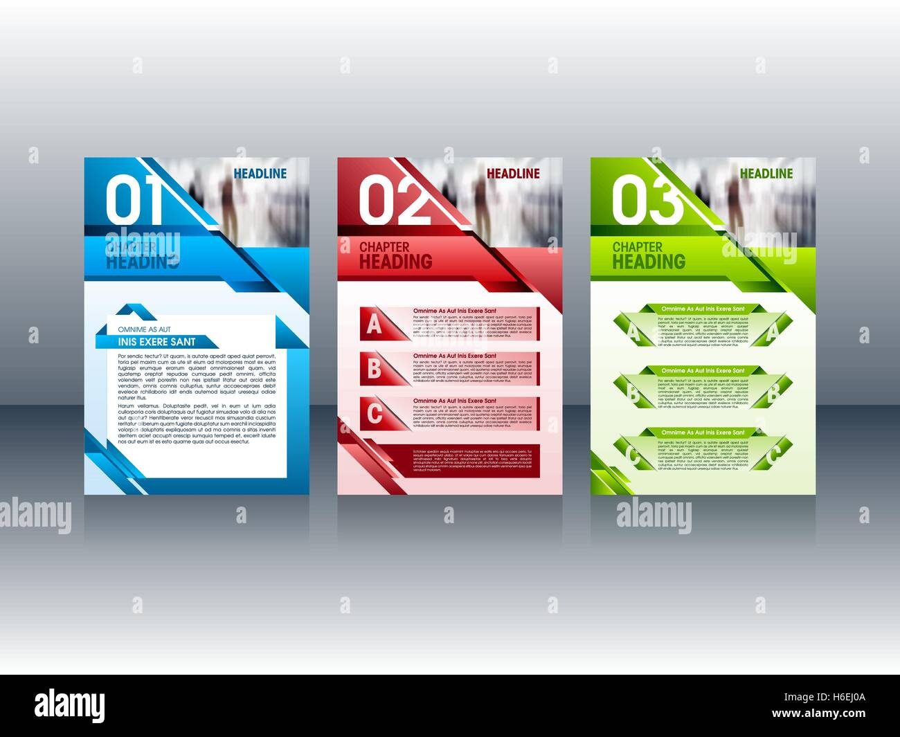 modern brochure design colorful flyer leaflet layout templates for your design vector illustration