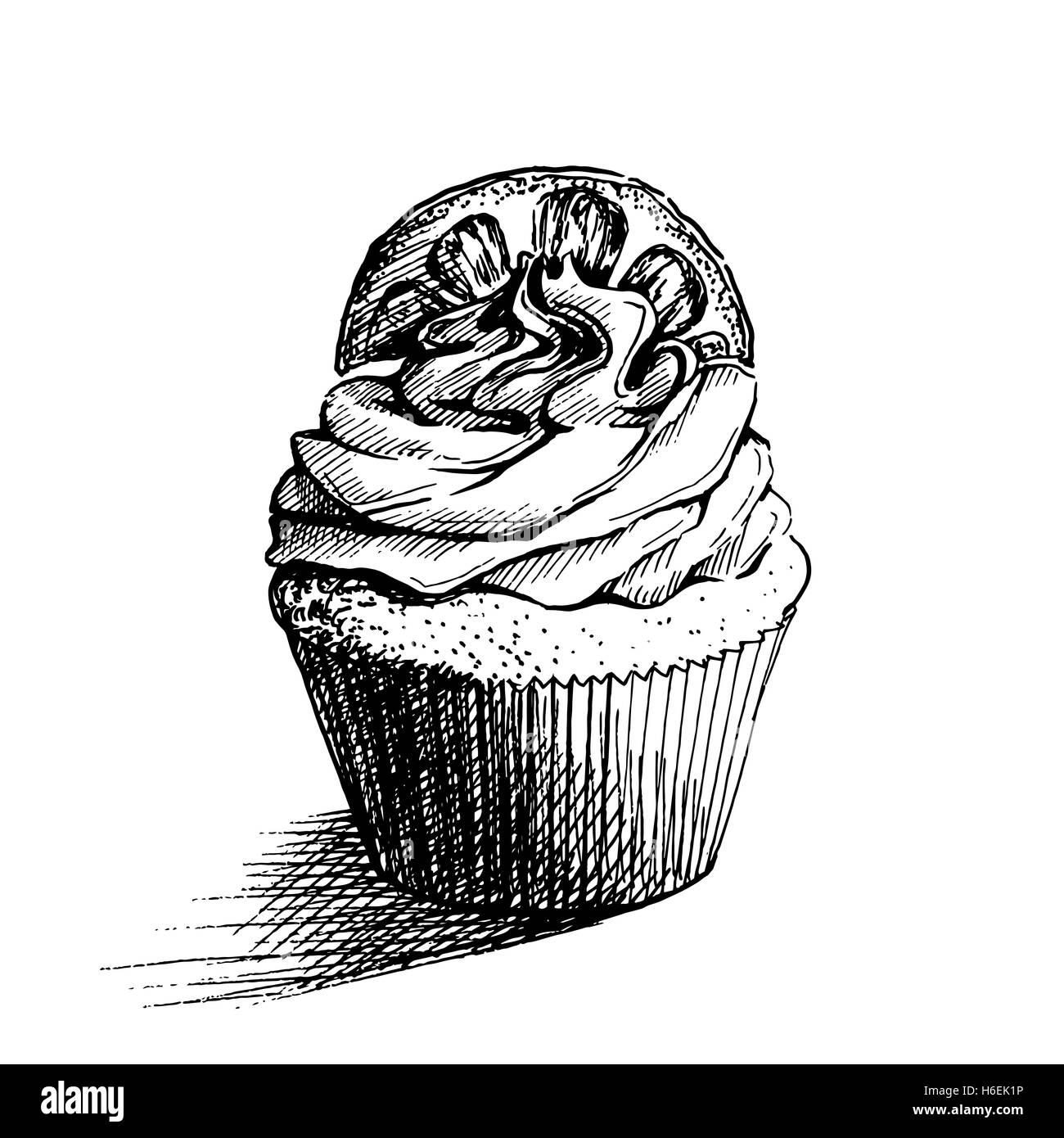 Lemon Cake Slice Black And White Stock Photos Images Alamy