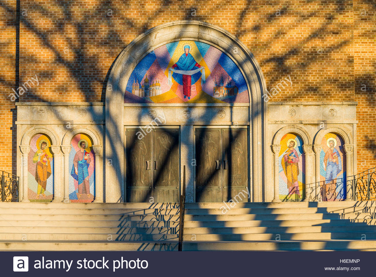 Byzantine style, Ukranian Orthodox Church, Cathedral of St. John, Edmonton, Alberta, Canada. - Stock Image