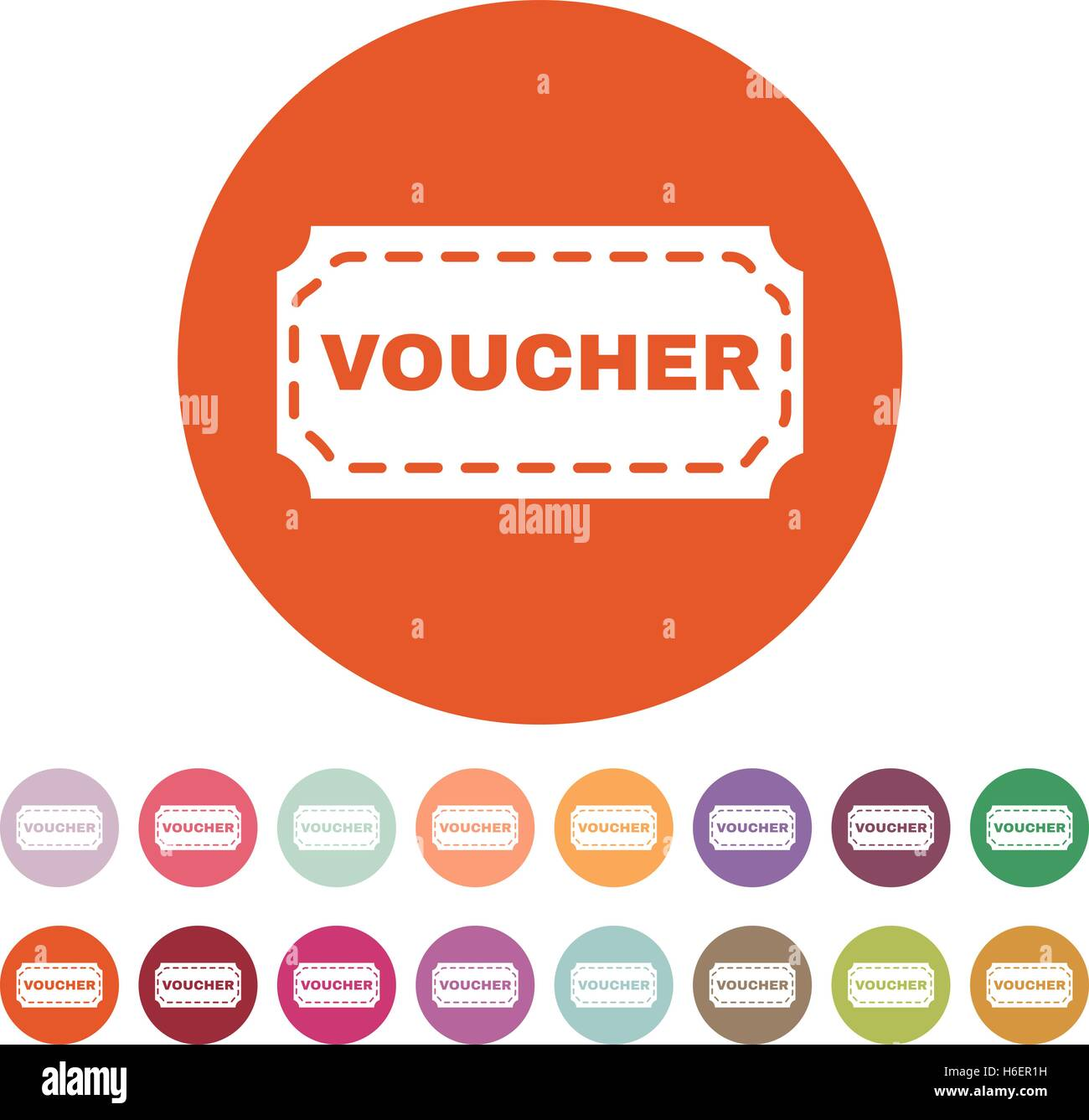 The Voucher Icon Coupon And Gift Offer Discount Symbol Flat