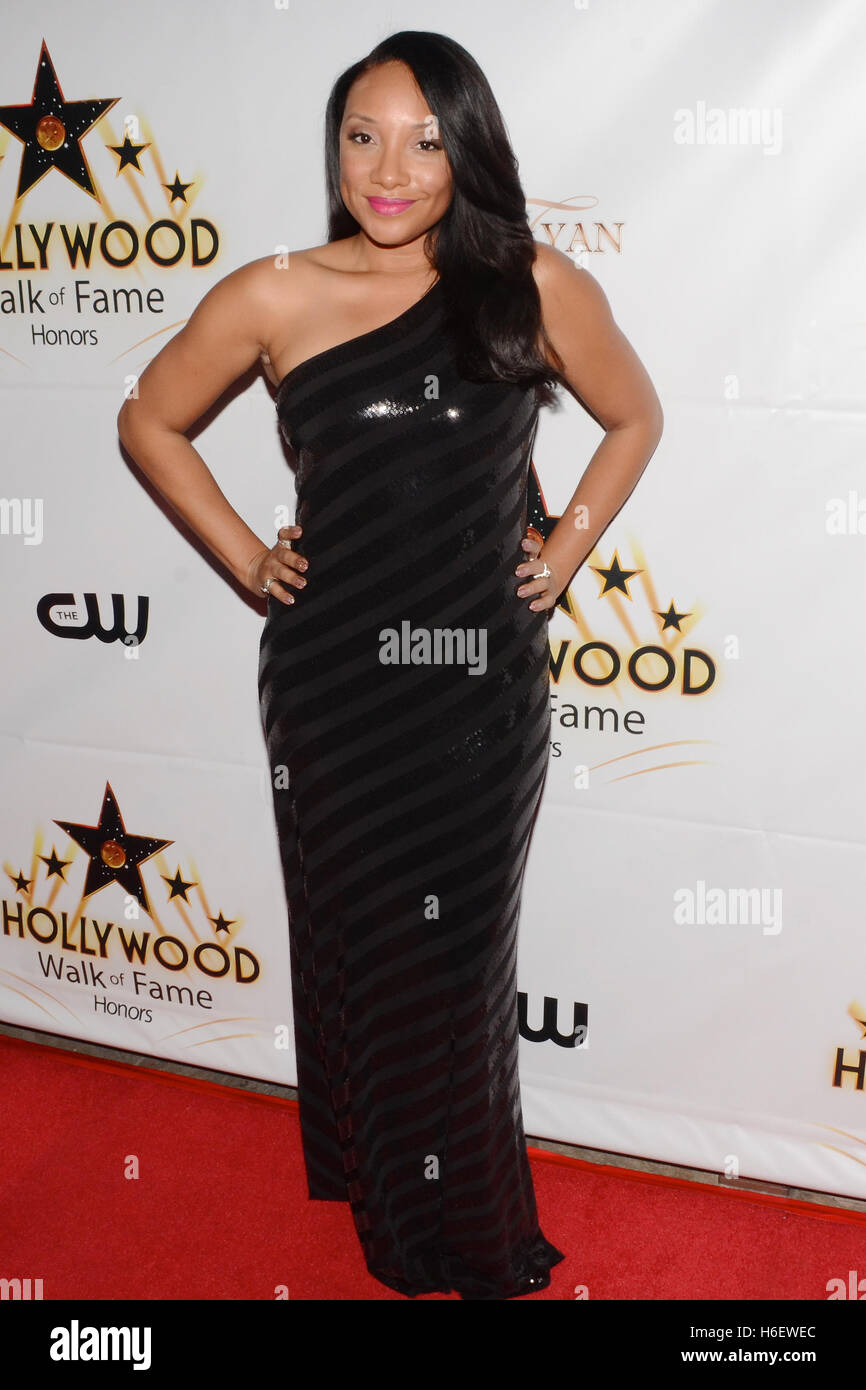 Shelea Frazier attends the Hollywood Walk of Fame Honors at Taglyan Complex on October 25, 2016 in Los Angeles, - Stock Image