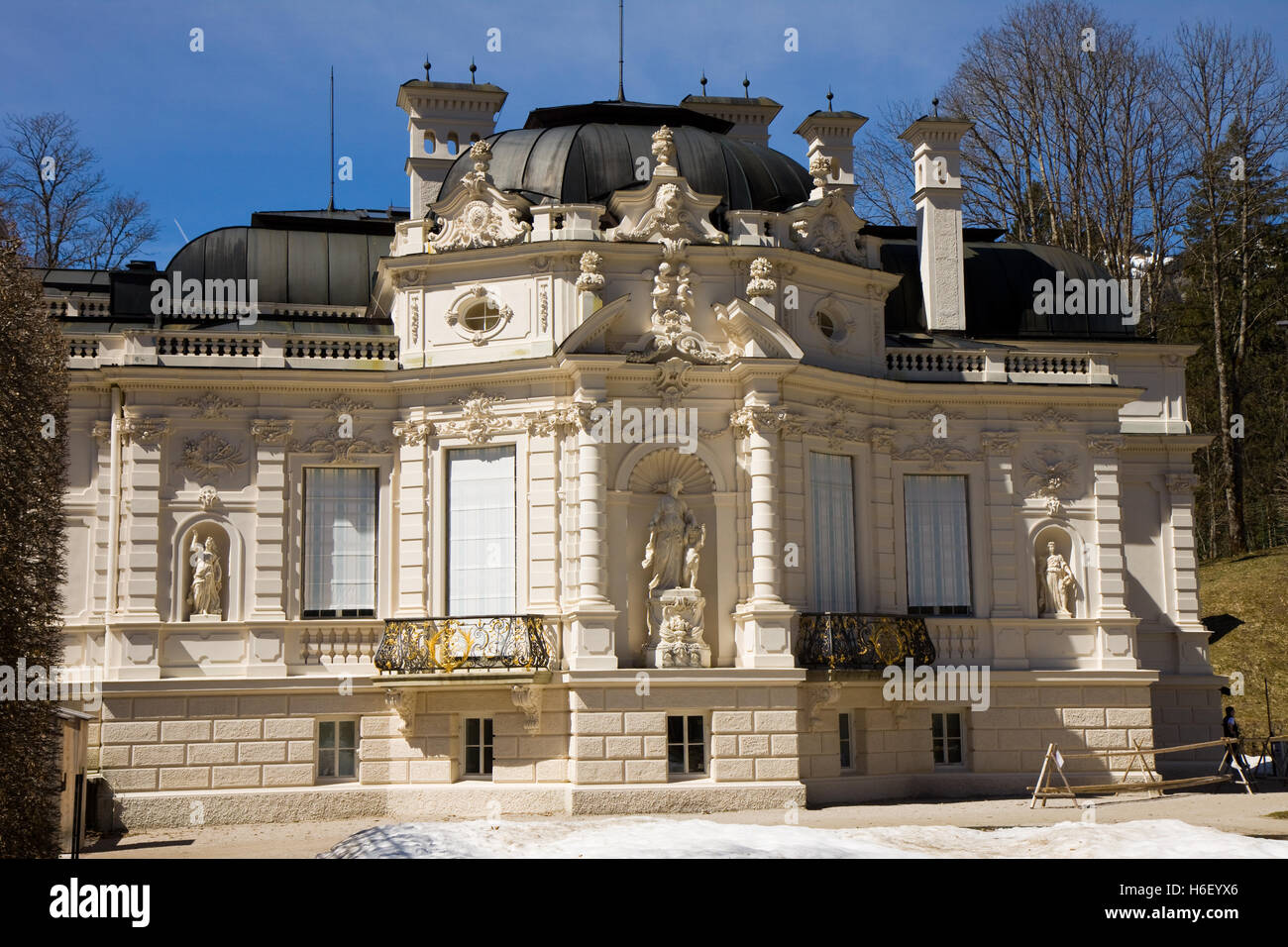 linderhof caste in bavaria germany - Stock Image