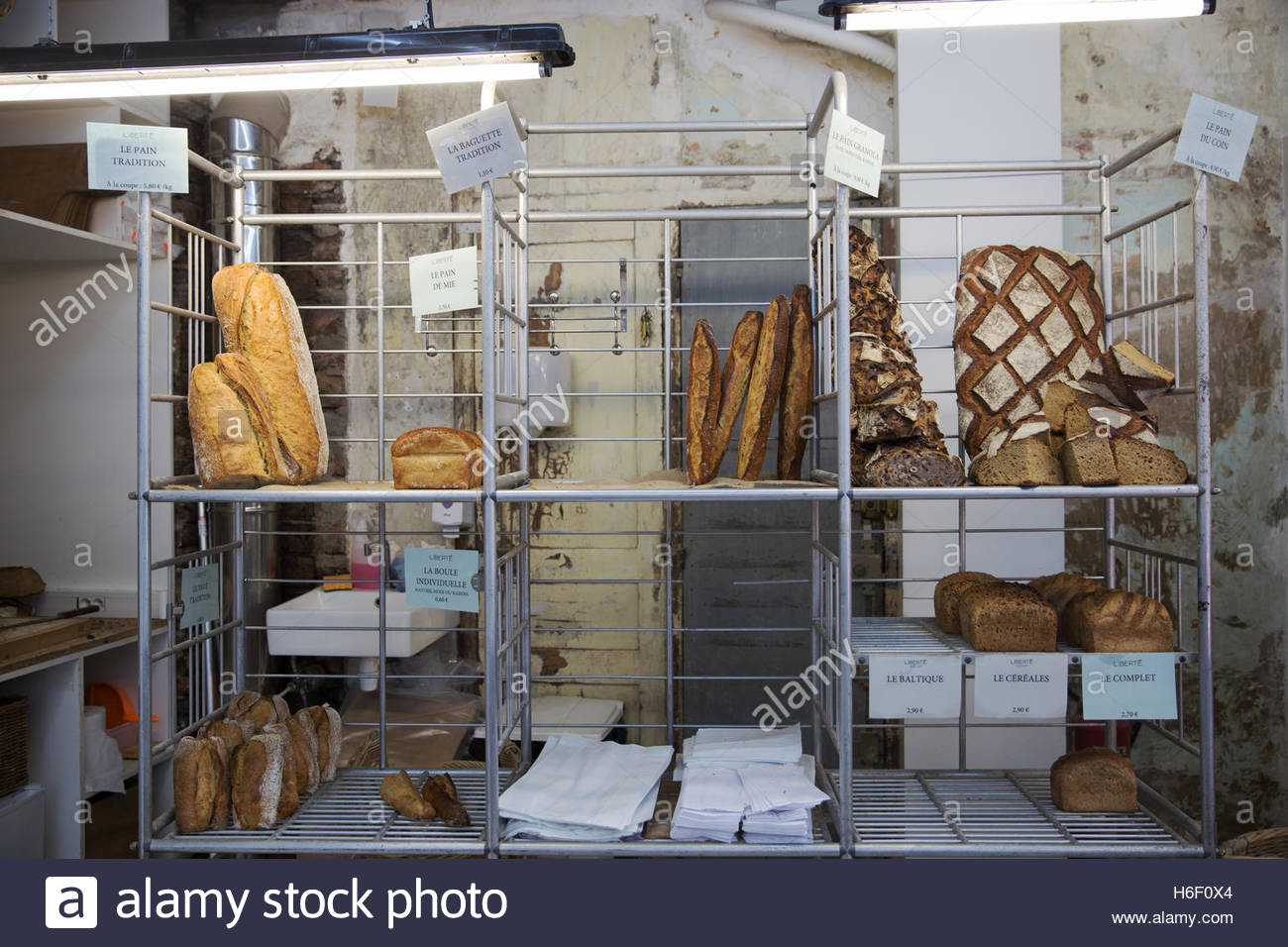 Liberté boulangerie et patisserie, Paris - Stock Image