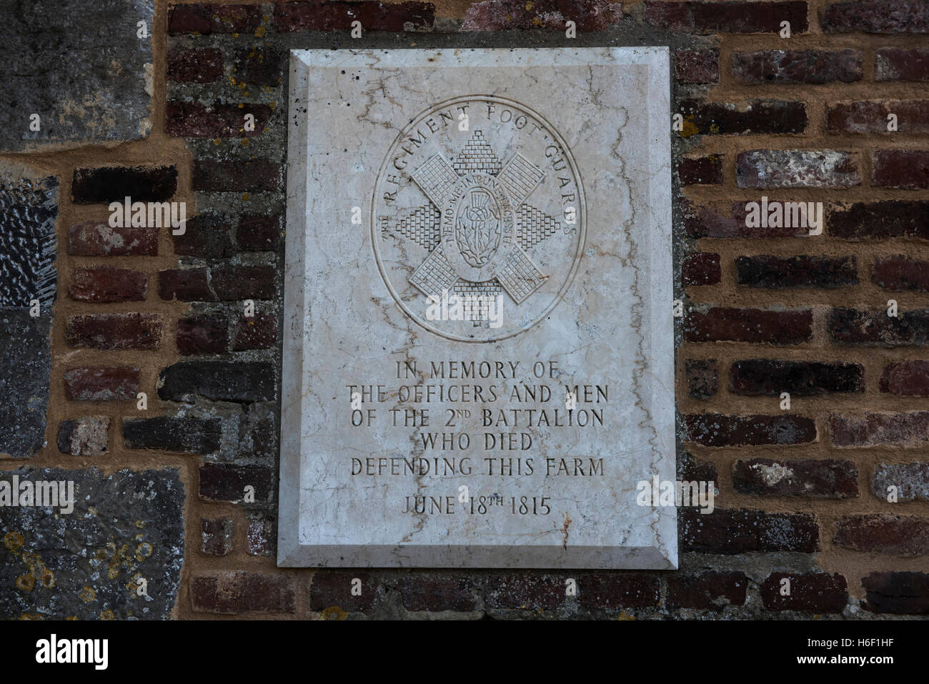 Waterloo Battlefield, Waterloo, Belgium. Sept 2016 Waterloo; Hougoumont Farm, Wellington; Napoleon; Wikipeadia below: - Stock Image