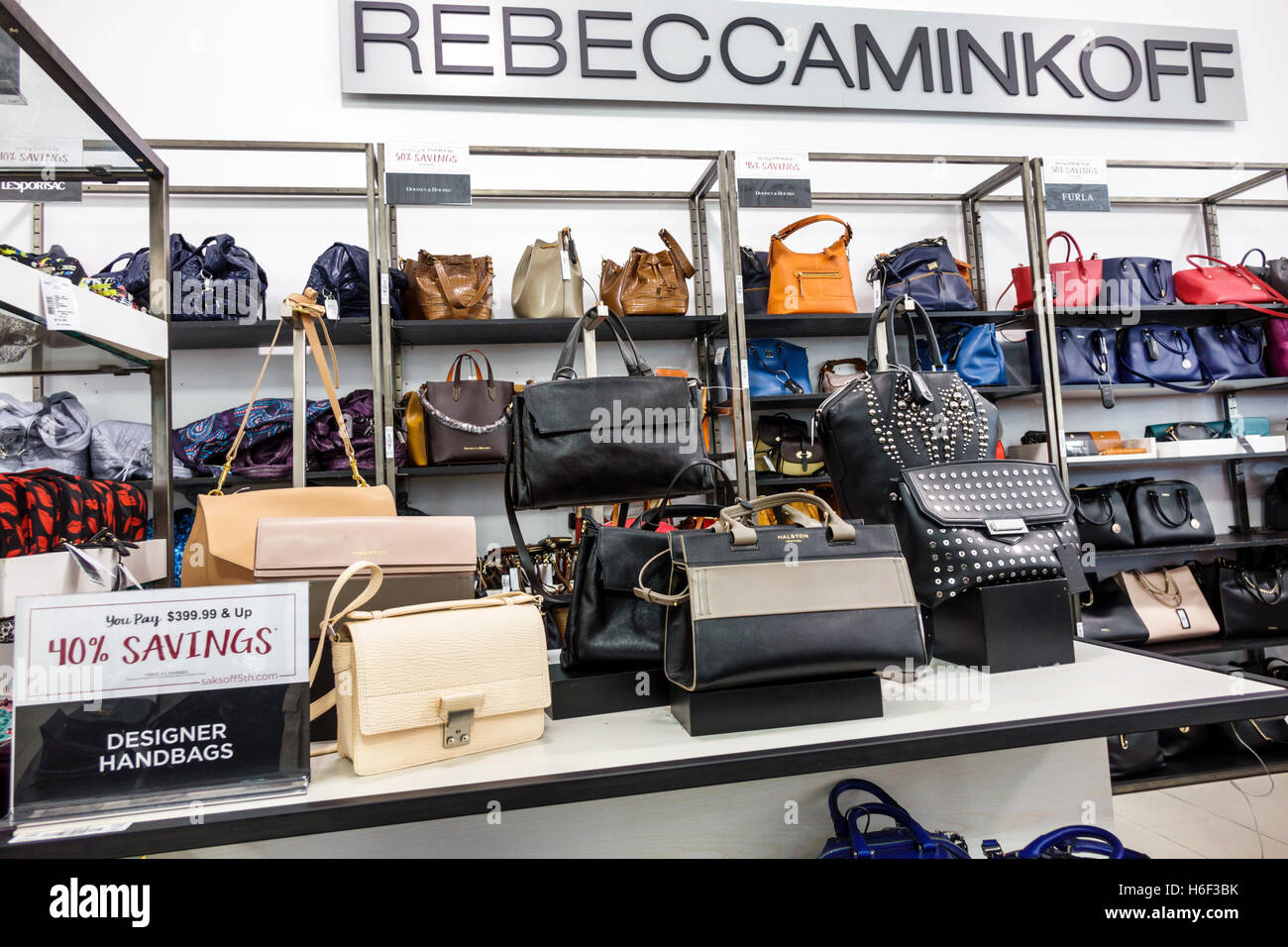 Palm Beach Florida Outlets shopping Saks Fifth Avenue Off 5th inside display  sale designer handbags Rebecca 72f3ce42ac388