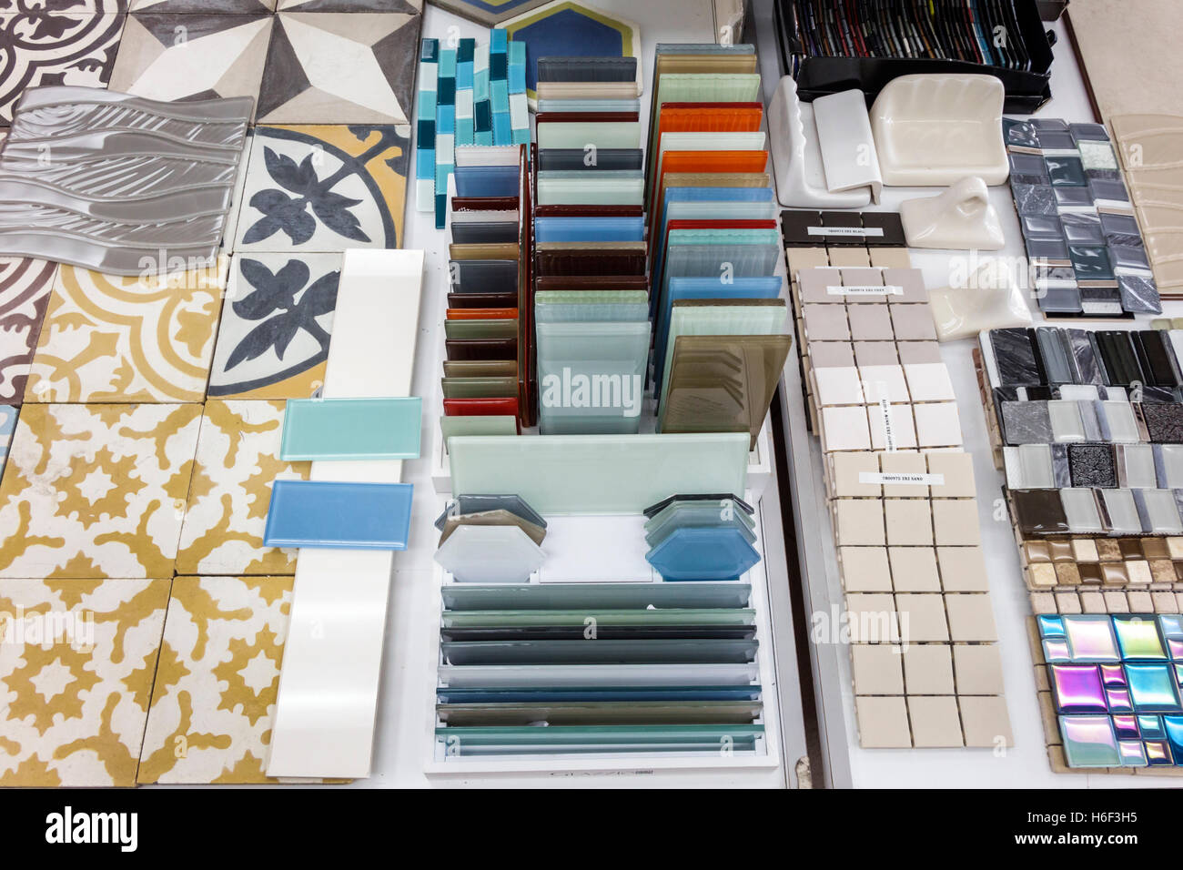 Glass Ceramic Tile Samples Stock Photos Glass Ceramic Tile Samples