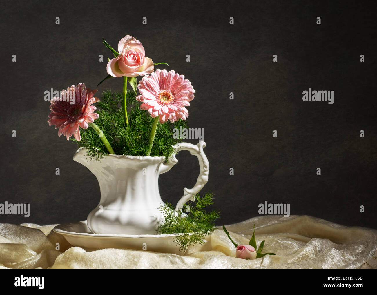 artistic lighting. Flower Arrangement In Jug With Artistic Lighting I