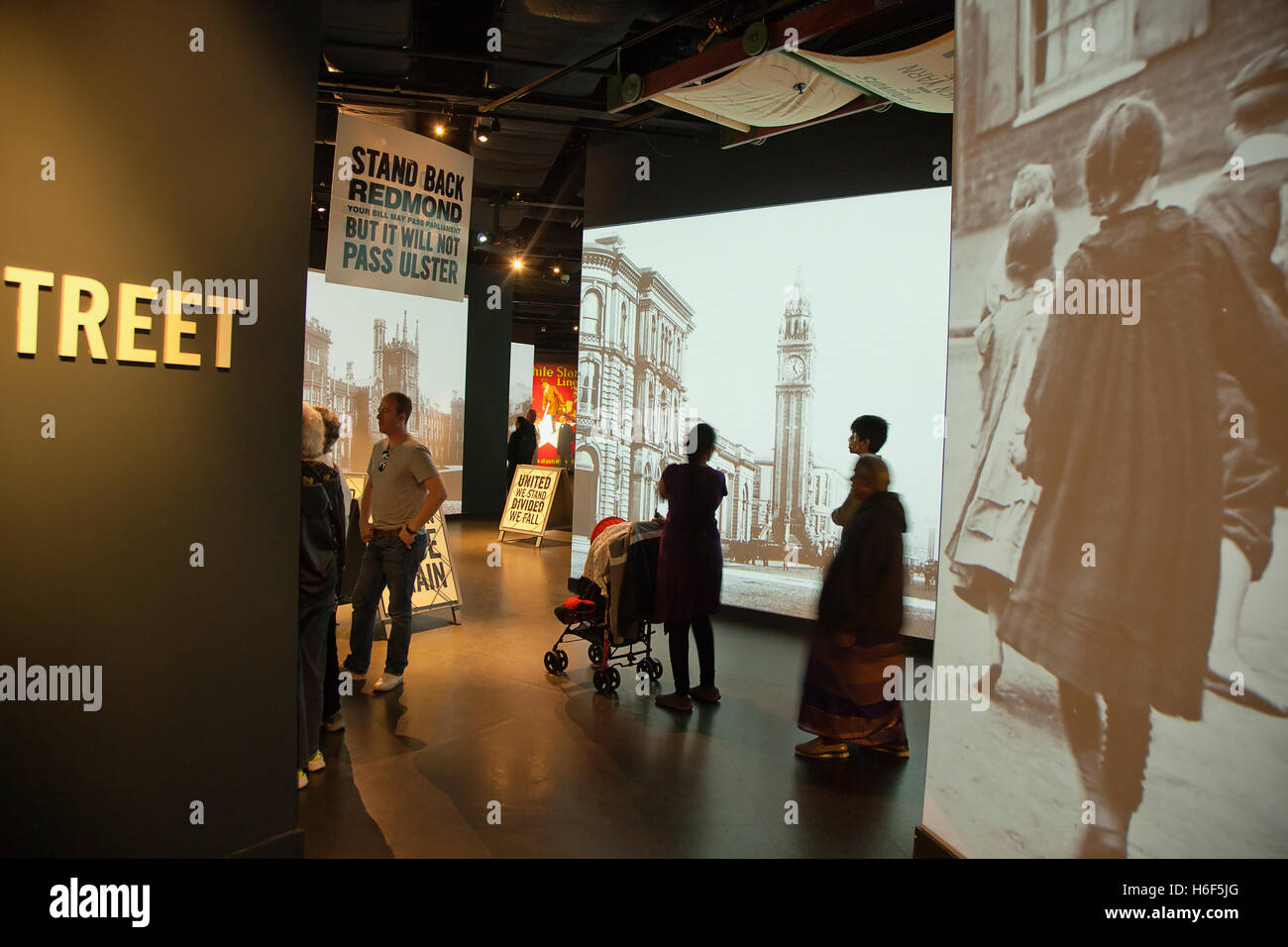 Ireland, North, Belfast, Titanic quarter visitor attraction interior. - Stock Image