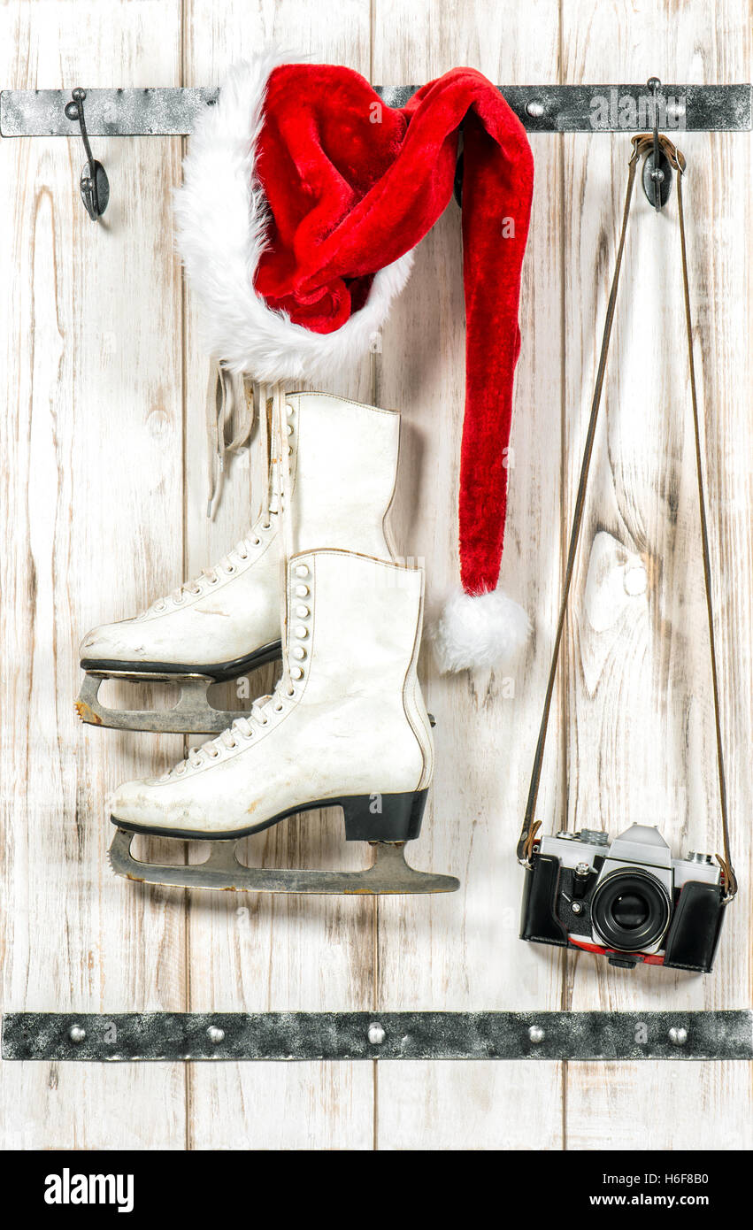 White Ice Skate Christmas Ornament Stock Photos & White Ice Skate ...