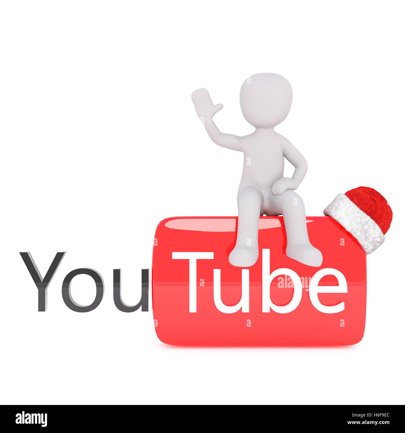 White Christmas Youtube.Single 3d Rendered Figure Waving While Seated On Youtube