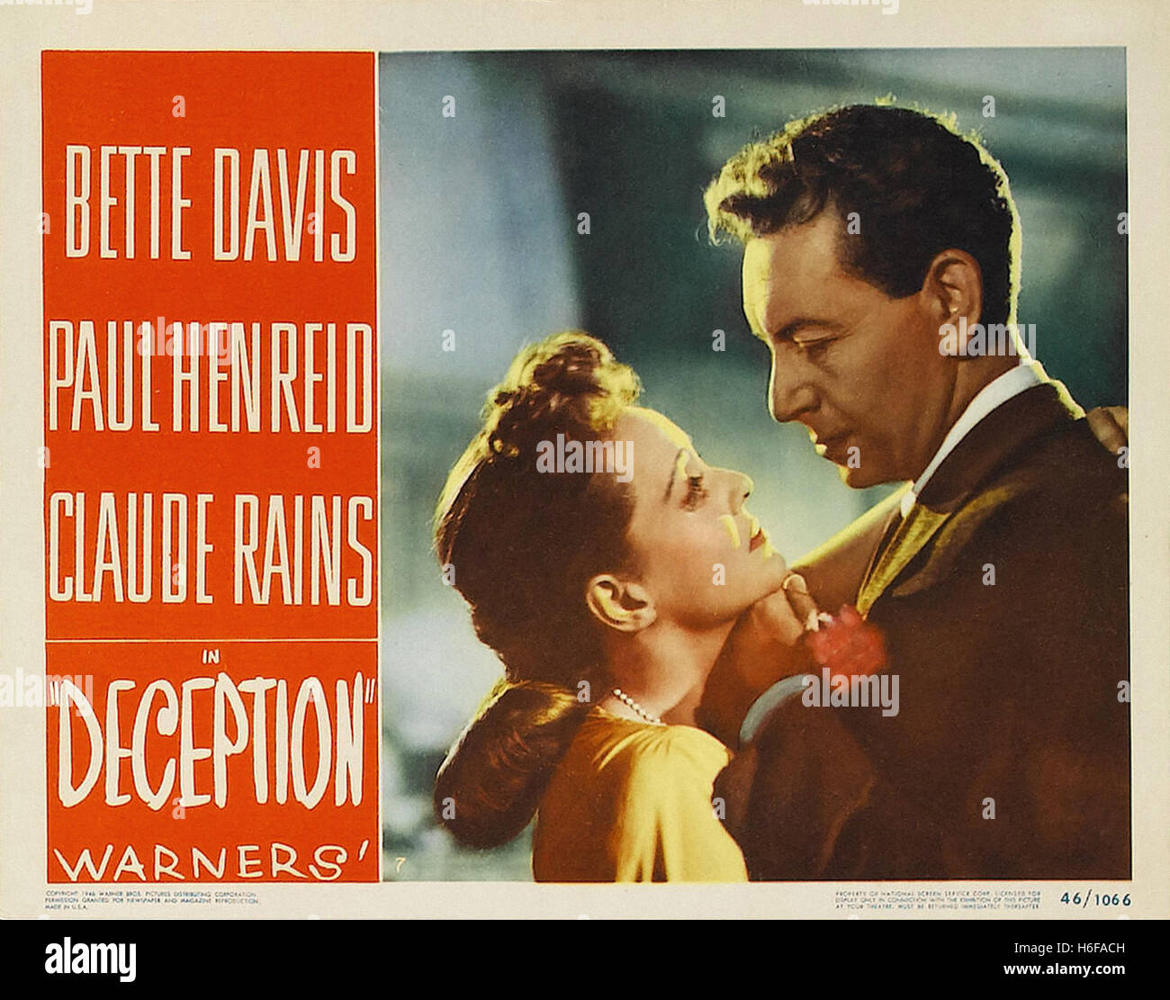 Deception (1946) - Movie Poster - - Stock Image