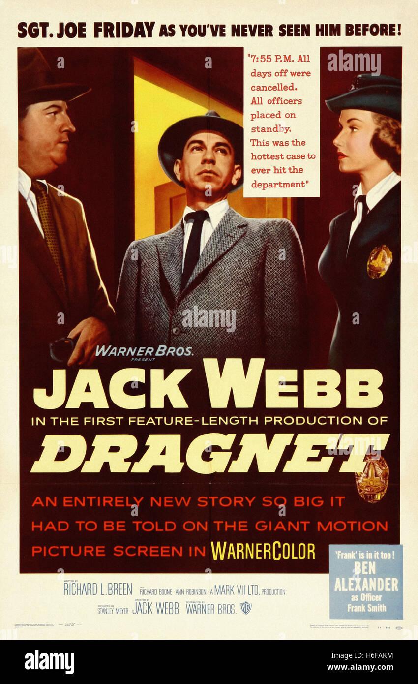 Dragnet (1954) - Movie Poster - - Stock Image
