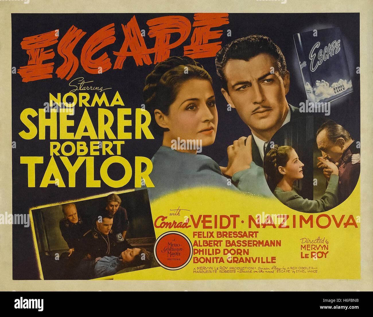 Escape (1940) - Movie Poster - - Stock Image