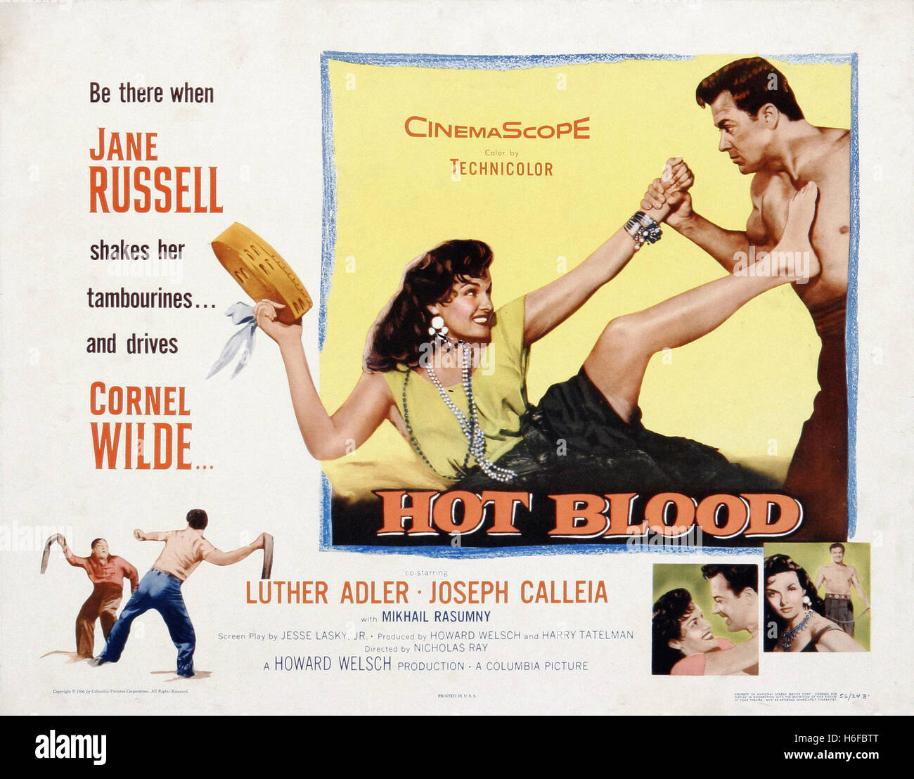 Hot Blood (1956) - Movie Poster - - Stock Image