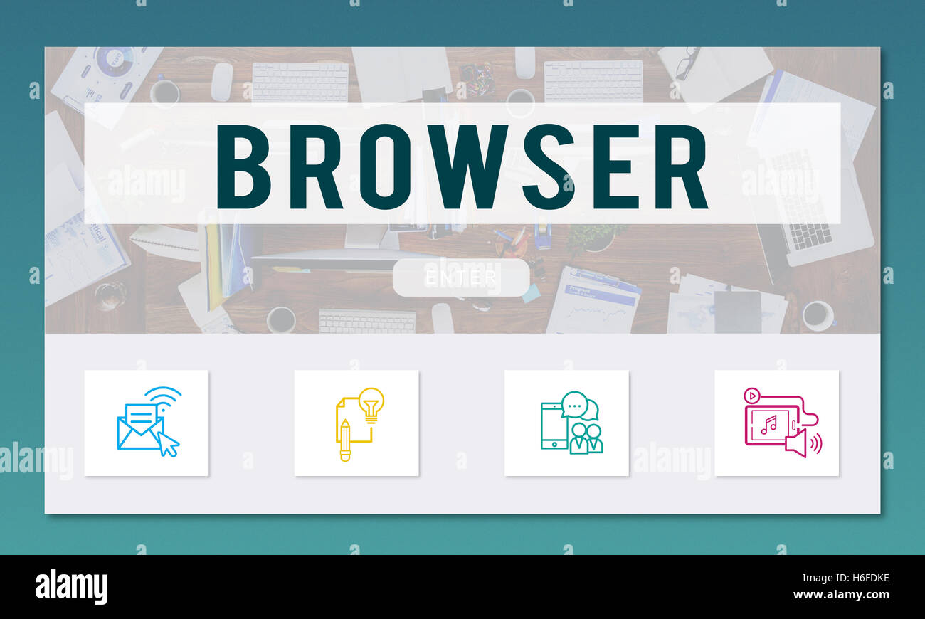 Browser Online Communication Connection Concept - Stock Image