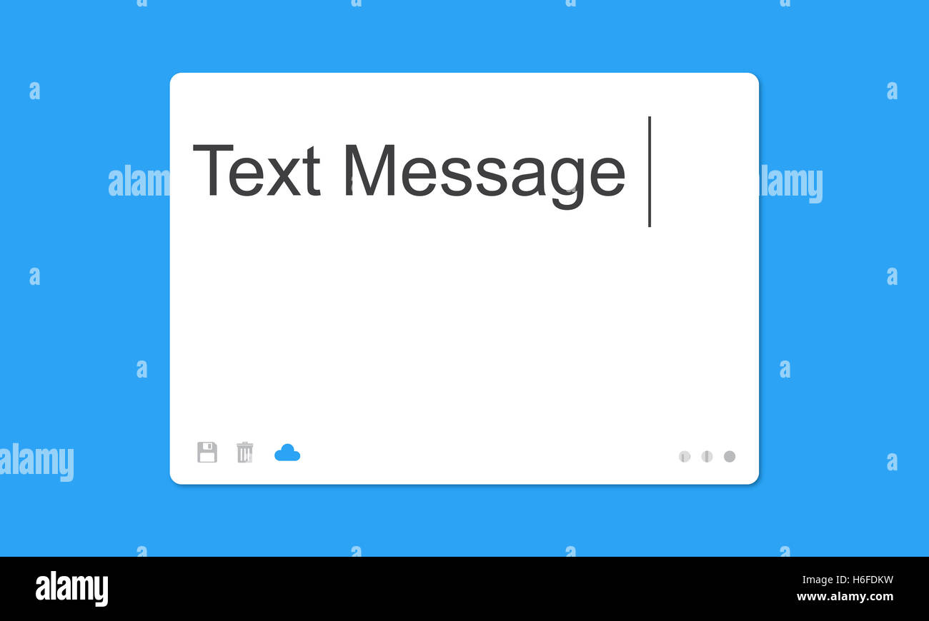 Text Message Social Network SMS Concept - Stock Image