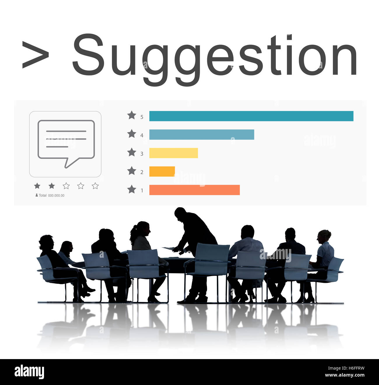 Suggestion Survey Comment Review Ratings Concept - Stock Image