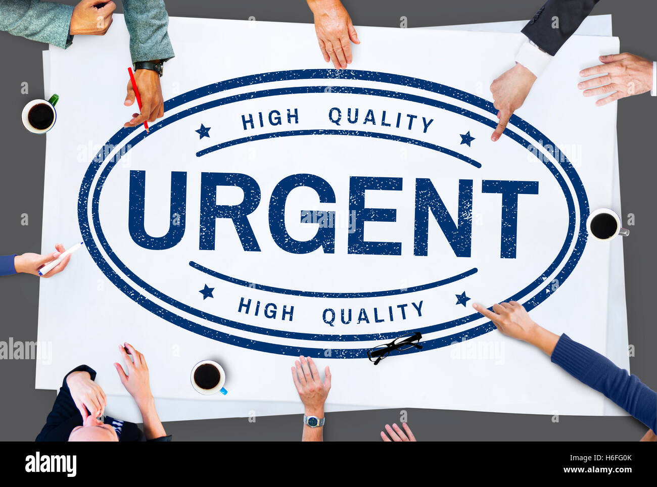Urgent Important Priority Stamp Word Concept - Stock Image