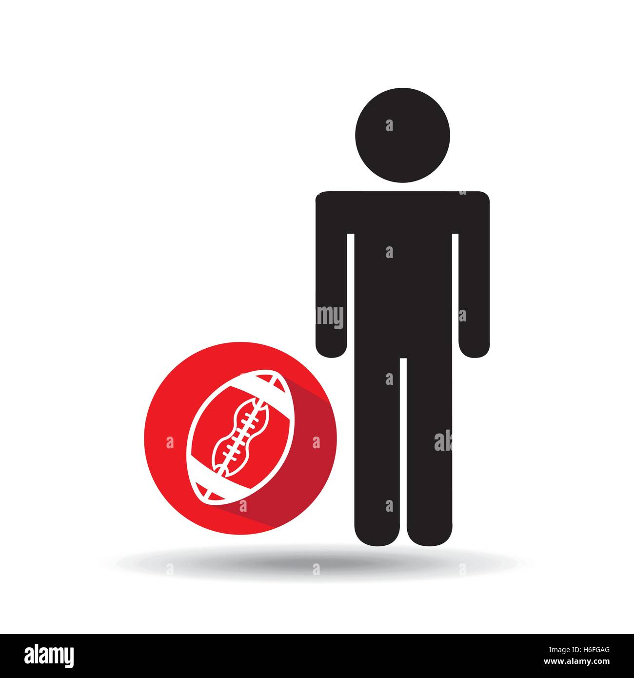 man silhouette football design vector illustration eps 10 - Stock Image